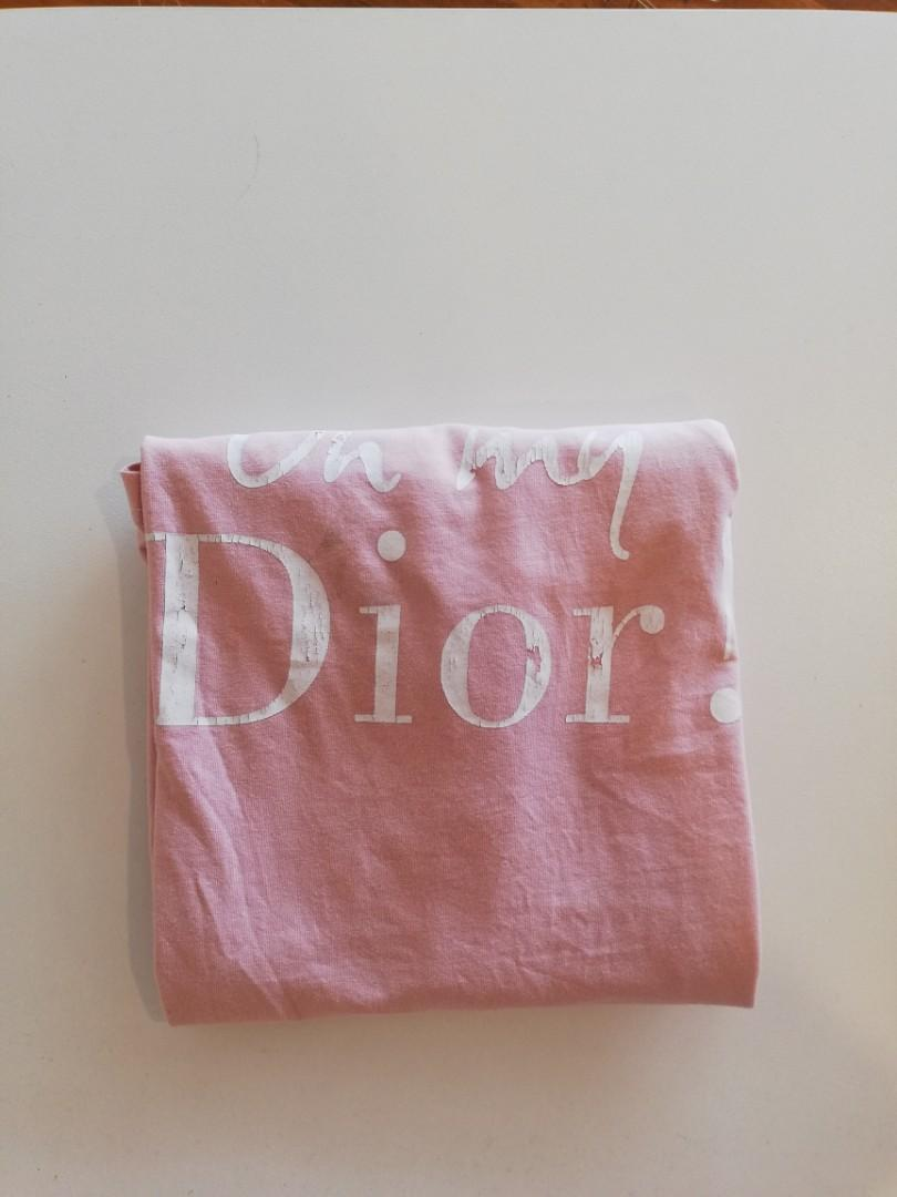 """M - Trouble Maker - """"Oh My Dior!"""" Tee Scoop Neck T-shirt in Light Pink"""