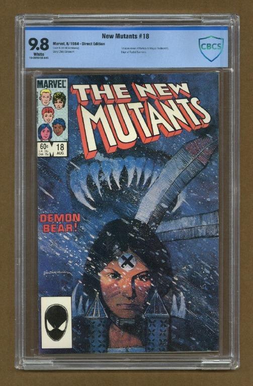 New Mutants (1983 1st Series) 18 CBCS 9.8 Cover art by Bill Sienkiewicz. 1st appearance of Warlock.