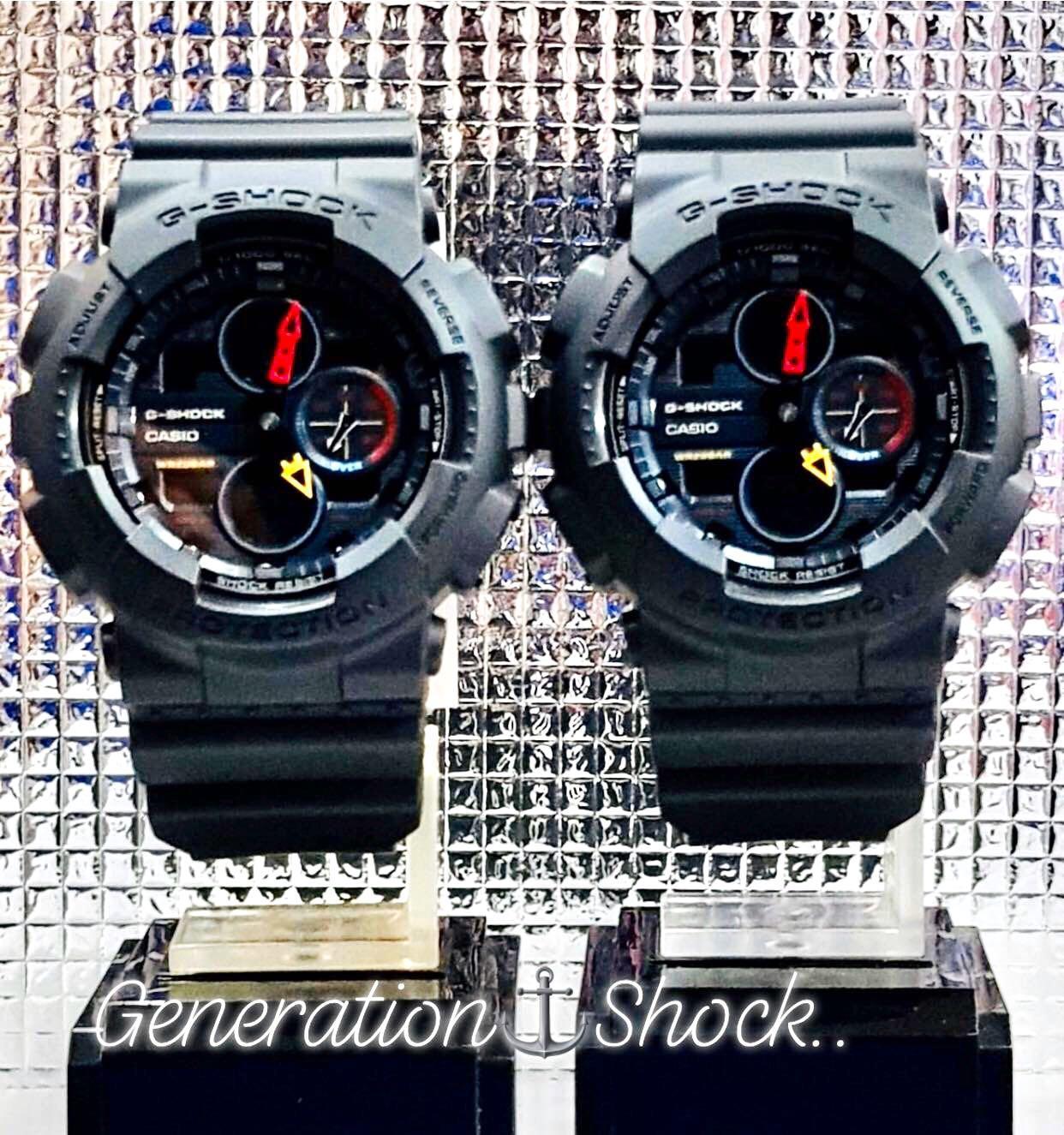 NEW💝COUPLE SET :  GSHOCK UNISEX DIVER SPORTS WATCH : 100% ORIGINAL AUTHENTIC CASIO G-SHOCK : GA-140BMC-1ADR / GA-140BMC-1A / GA-140-BMC-1A / GA-100-1A new series (DEEP-BLACK)