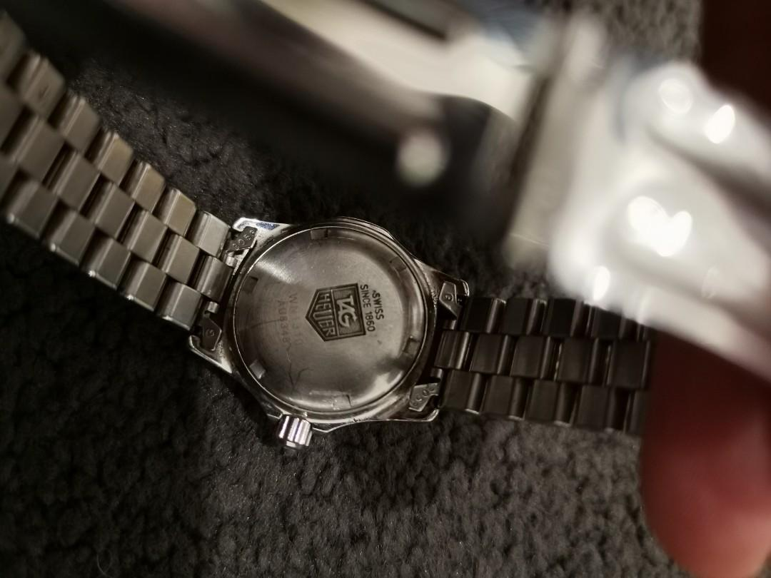 Pre-owned Tag Heuer 2000 Exclusive Professional 200m Black Dial Womens