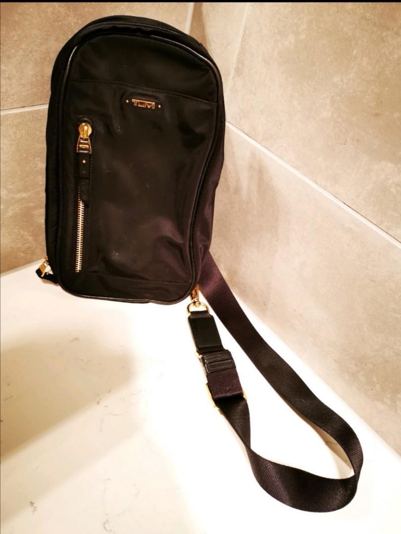 Pre-owned Tumi Mila sling shoulder bag nylon Black in good condition