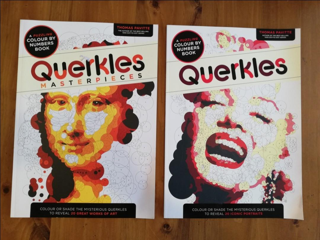 Querkles - Colour by Numbers Colouring Book for Adults