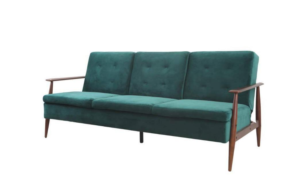 SALE!!! LUXURY RETRO STYLING VELET SOFA BED--LINDY VELET SOFA BED WAS$1010, NOW JUST$969