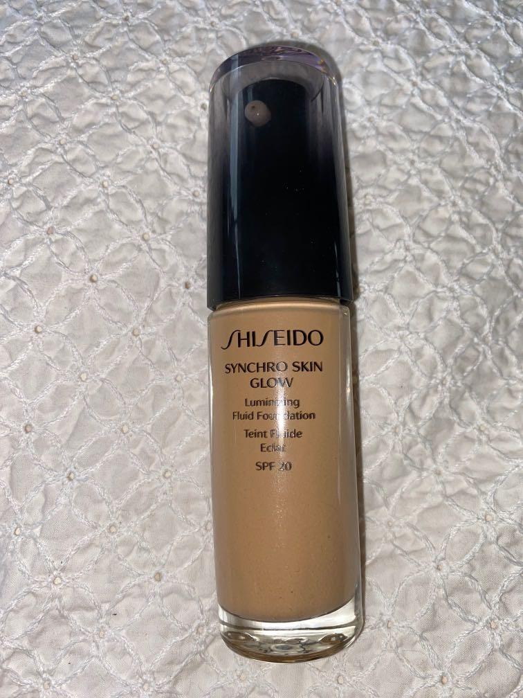 Shiseido synchro skin glow luminizing fluid foundation - golden 4