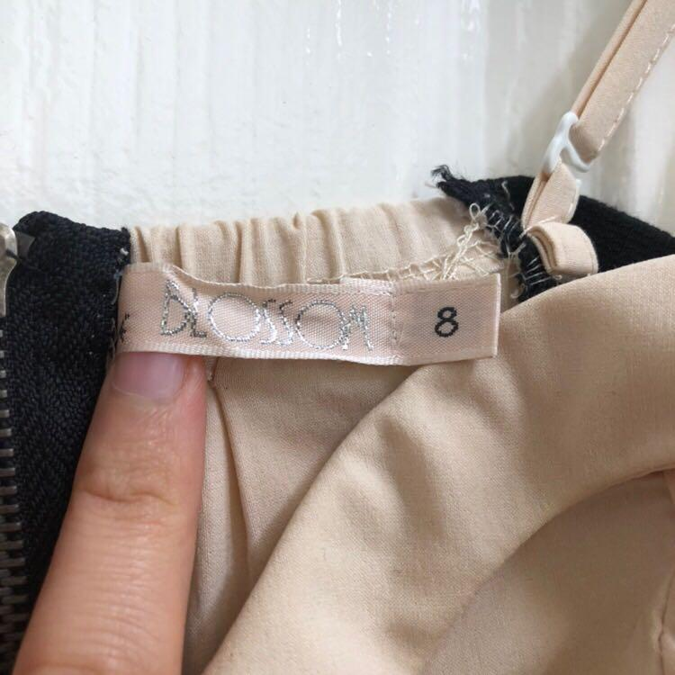 (Size 6-8) Asymmetrical Midi Dress with Cutout Details