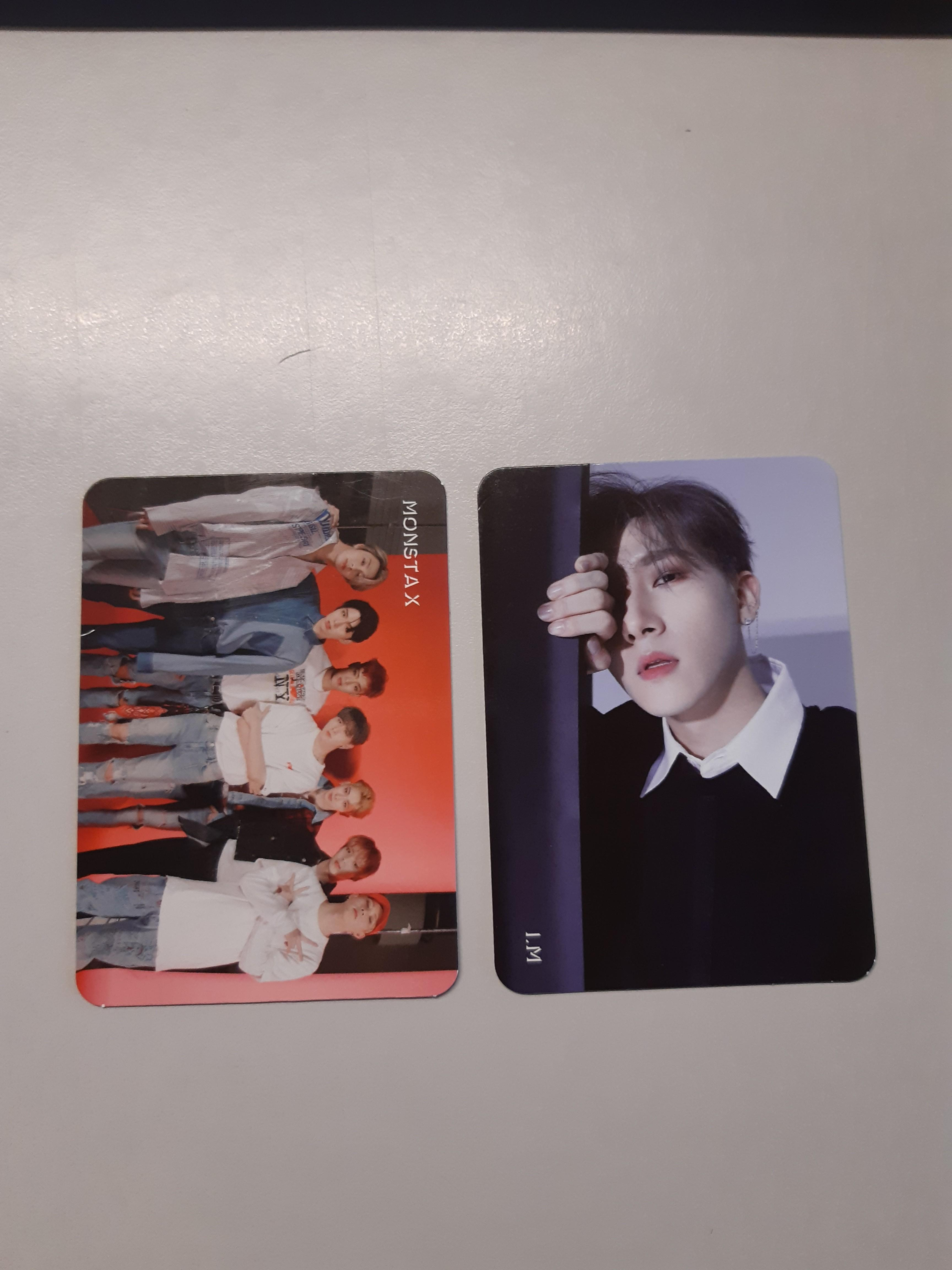 WTS Monsta X Are You There I.M and Group Photocard PC