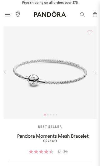 Pandora Sterling Silver Mesh bracelet