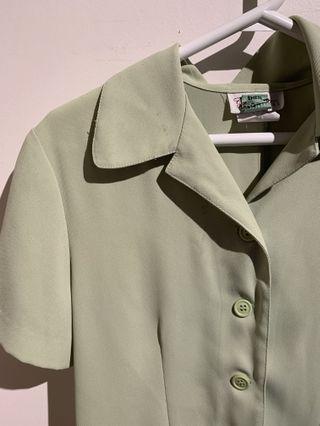 Green vintage blouse