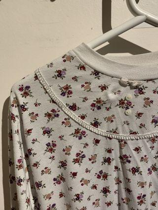 Floral cropped long sleeve