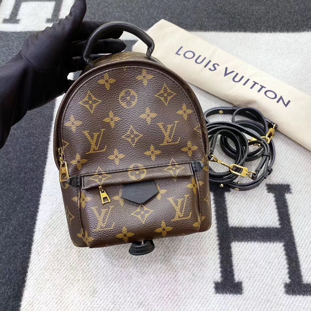 Authentic Pre-loved Louis Vuitton Palm Springs Mini Backpack Monogram Canvas