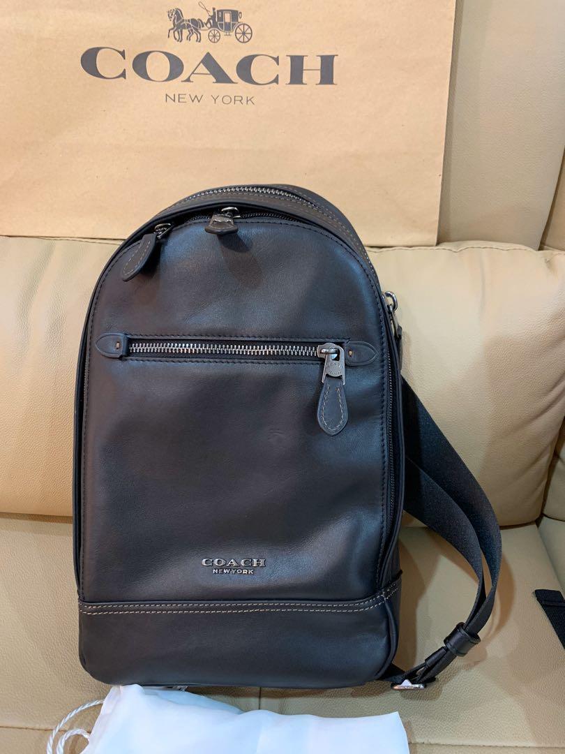 Authentic ready stock cny coach men 37598 chest bag crossbody handbag
