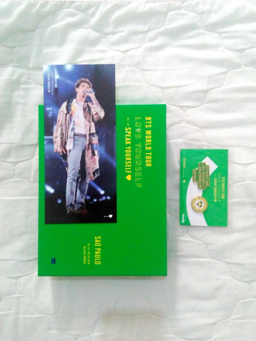 BTS SAO PAULO DVD FULL SET + NAMJOON BOOKMARK AND PREORDER GIFT