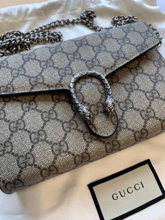 Gucci Dionysus Leather Chain Wallet 100% Authentic