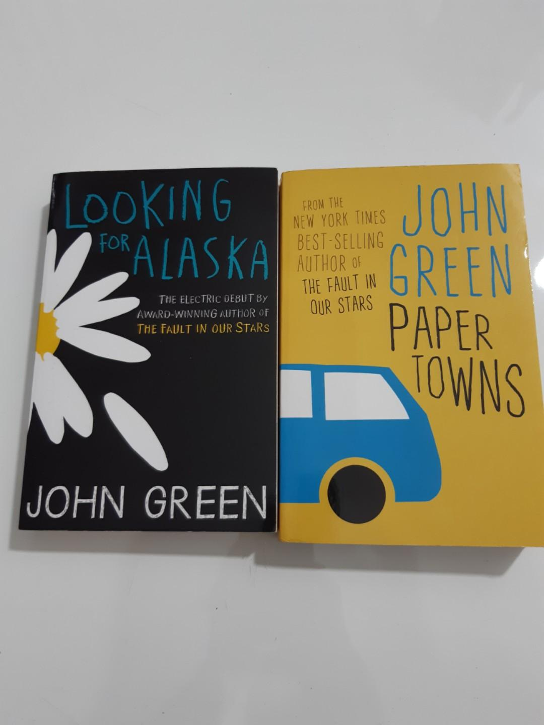 John Green books (paper towns and looking for Alaska)