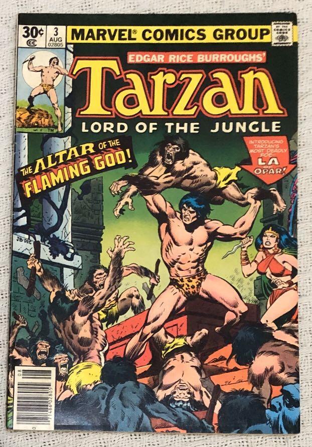 Lot of 3 Marvel Comics (1977-1978): Tarzan - Lord of the Jungle #3, #19 and #20