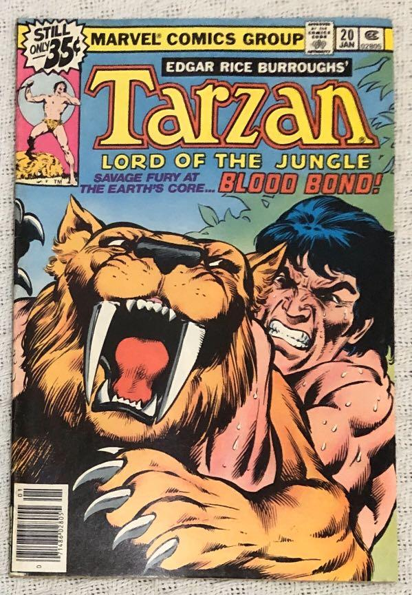 Lot of 3 Marvel Comics (1977-1978): Tarzan - Lord of the Jungle #3, #19 and #20