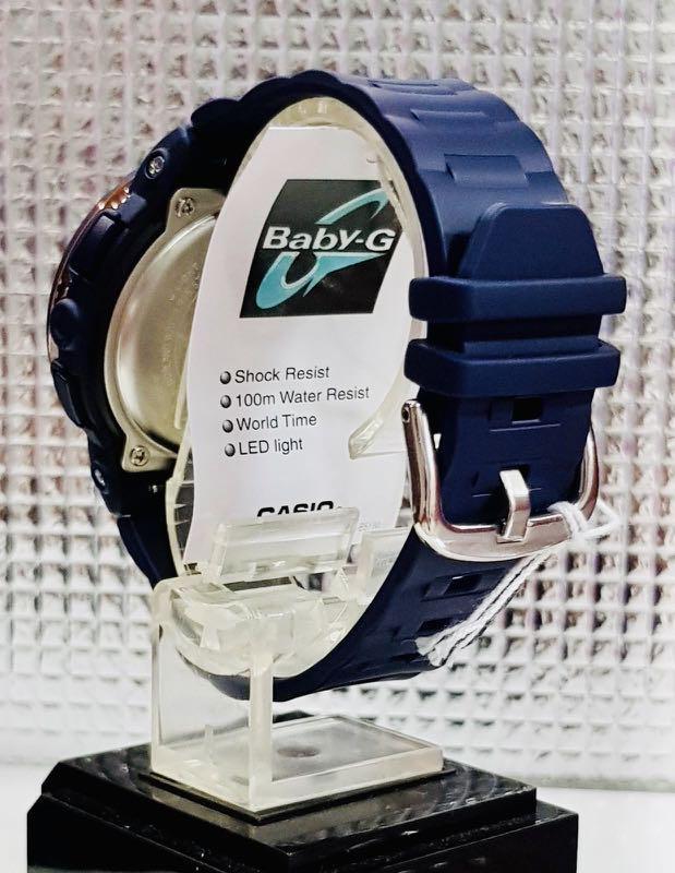 NEW🌟BABYG UNISEX SPORTS WATCH : 100% ORIGINAL AUTHENTIC CASIO BABY-G SHOCK (GSHOCK )  : BGA-150PG-2B2 / BGA-150-PG-2B2 : (NAVY BLUE-ROSE GOLD)