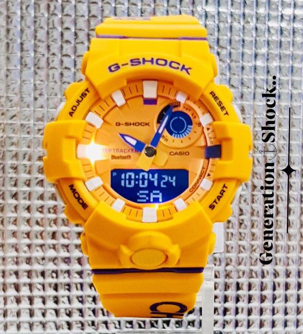 NEW🌟BLUETOOTH STEP-TRACKER : GSHOCK DIVER UNISEX SPORTS WATCH : 100% ORIGINAL AUTHENTIC CASIO G-SHOCK : GBA-800DG-9A / GBA-800-DG-9A (MANGO-YELLOW)