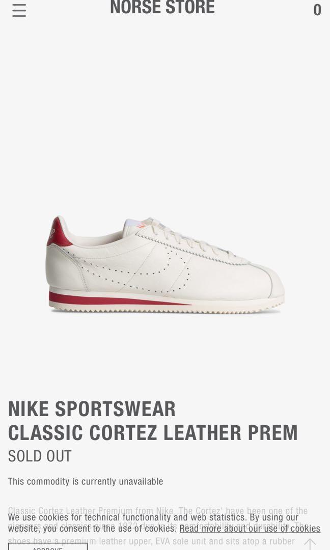 nike sportswear classic cortez leather