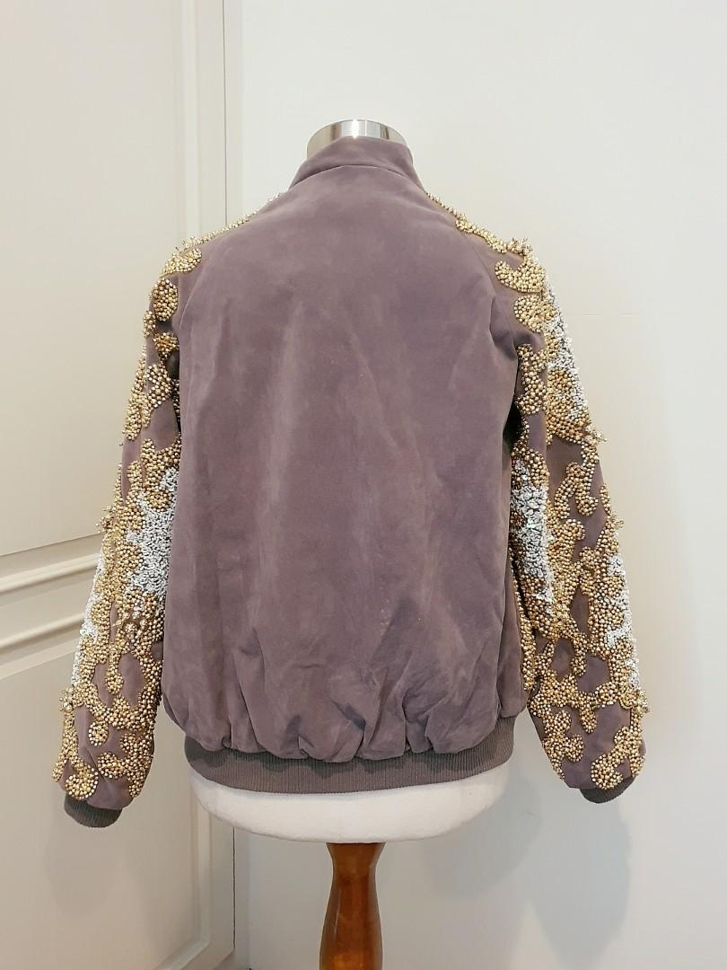 Nwt A STAR IS BORN Allover Embellished Bomber Jacket - Uk6 Us2 XS - Retail 300 usd! As worn by #mmehuillet