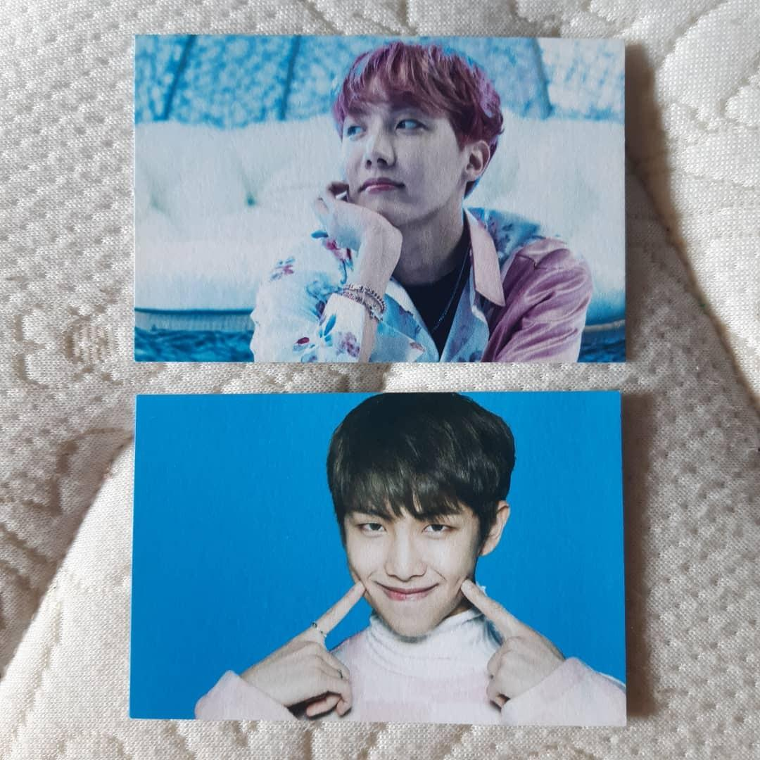 OFFICIAL BTS J-Hope,RM/Namjoon Wings Tour MD mini pc/photocard