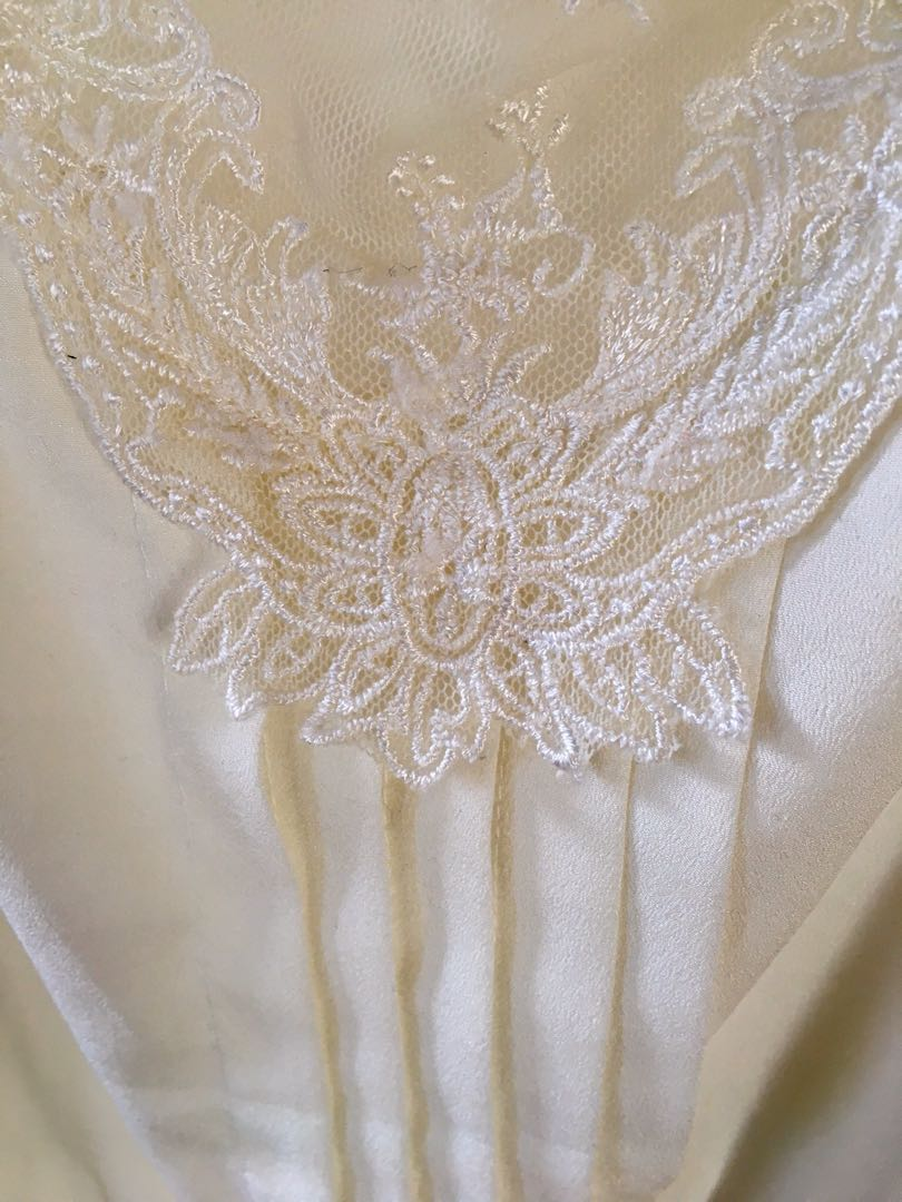 Pilgrim white lace ruffle peasant bohemian summer blouse top size 8