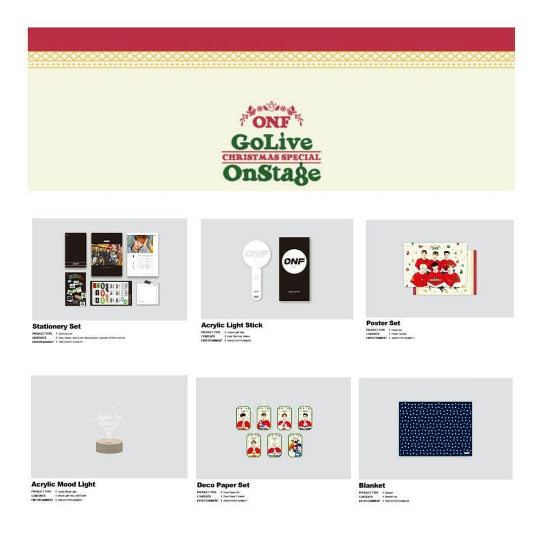 [PREORDER ] ONF - GO LIVE  CHRISTMAS SPECIAL ONSTAGE