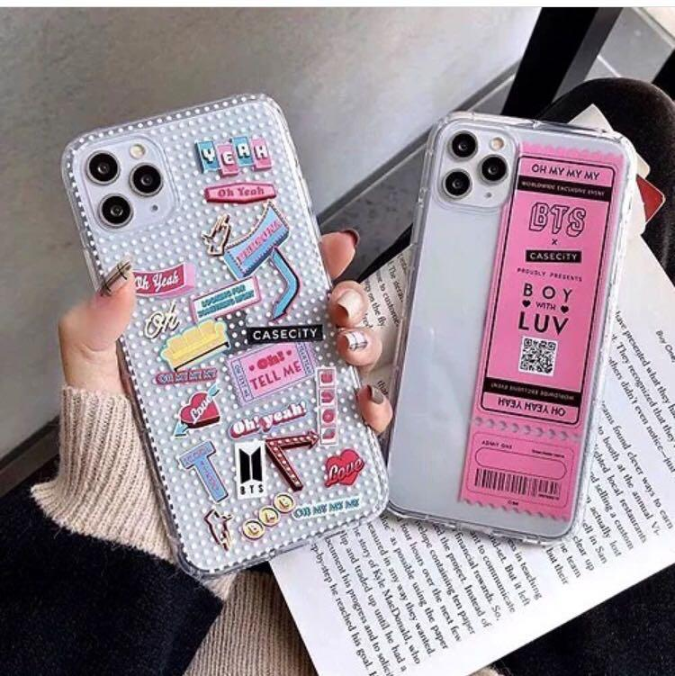 PREORDER BTS TRANSPARENT CASE LIMITED AVAI FOR IP6-11P MAX *choose design exc pos