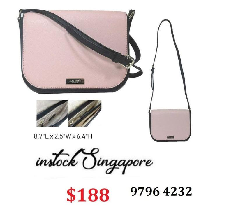 READY STOCK - AUTHENTIC - NEW Kate spade Women's Laurel Way Larrge Carsen Leather Cross Body Bag wkru5533
