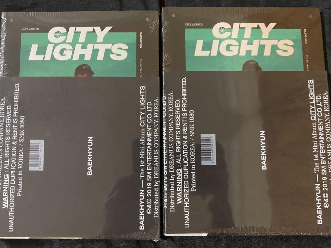 SEALED EXO BAEKHYUN CITY LIGHT ALBUM NIGHT VERSION