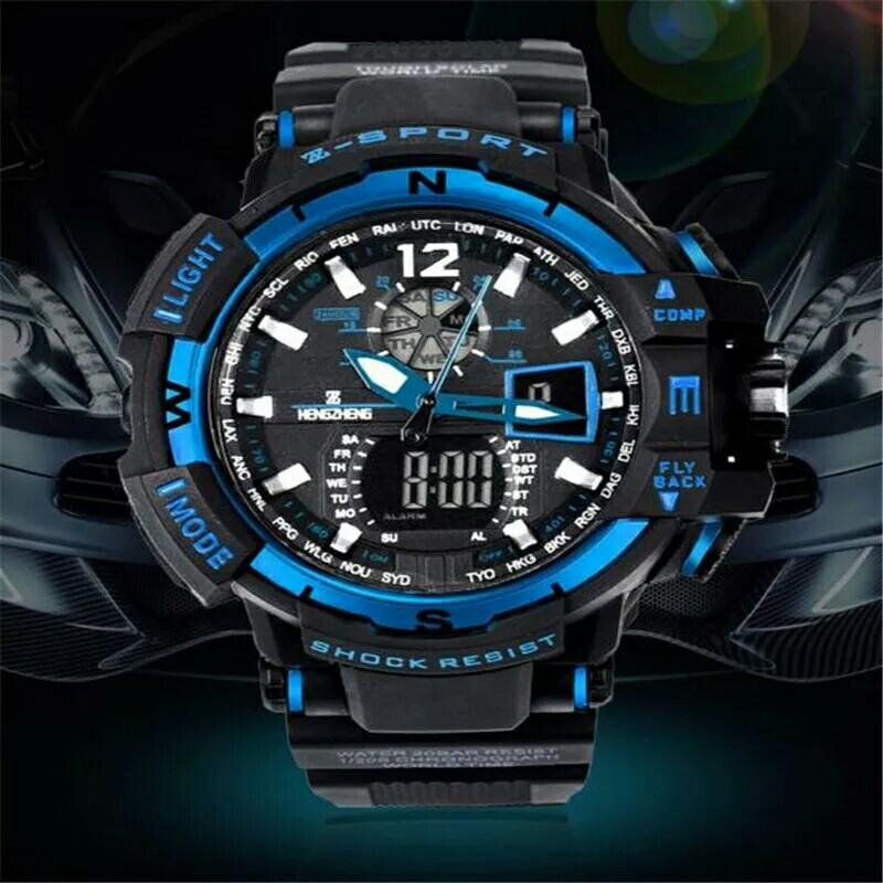 SELFLOVER 50m Waterproof Sport Watch Diving Swimming Men Sports Wristwatch Relogio Masculino Clock Men Dual Display Wrist watch