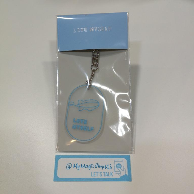 <SOLD> BTS LOVE MYSELF OFFICIAL MD - BADGET SET AND ACRYLIC KEYRING