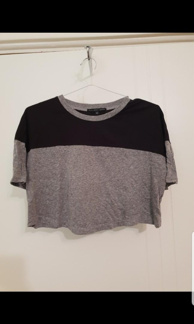 Urban Outfitters Truly Madly Deeply crop top baseball raglan