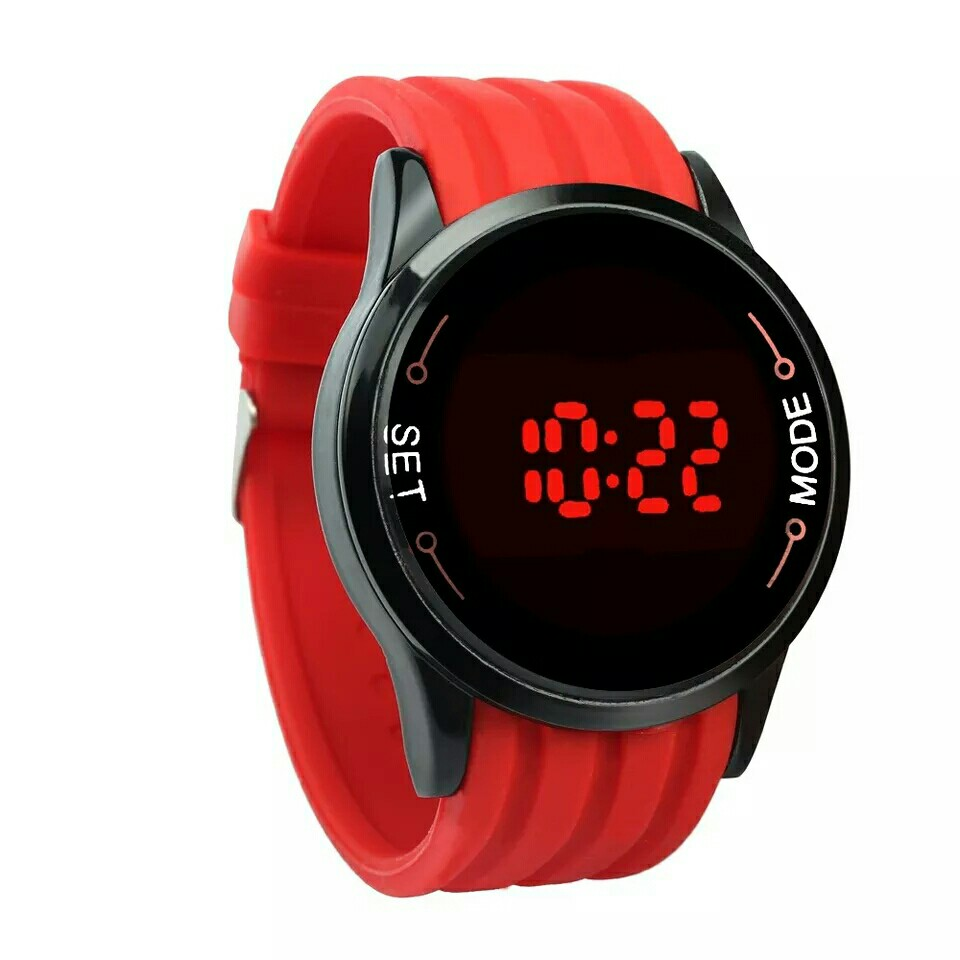 Watches For Men 2019 Fashion Waterproof Mens Watch LED Touch Screen Date Silicone Wrist Black Wristwatch Watch Relojes mujer