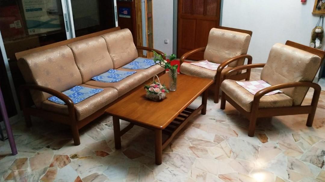 Wooden Sofa Set Teak Wood Furniture Sofas On Carousell