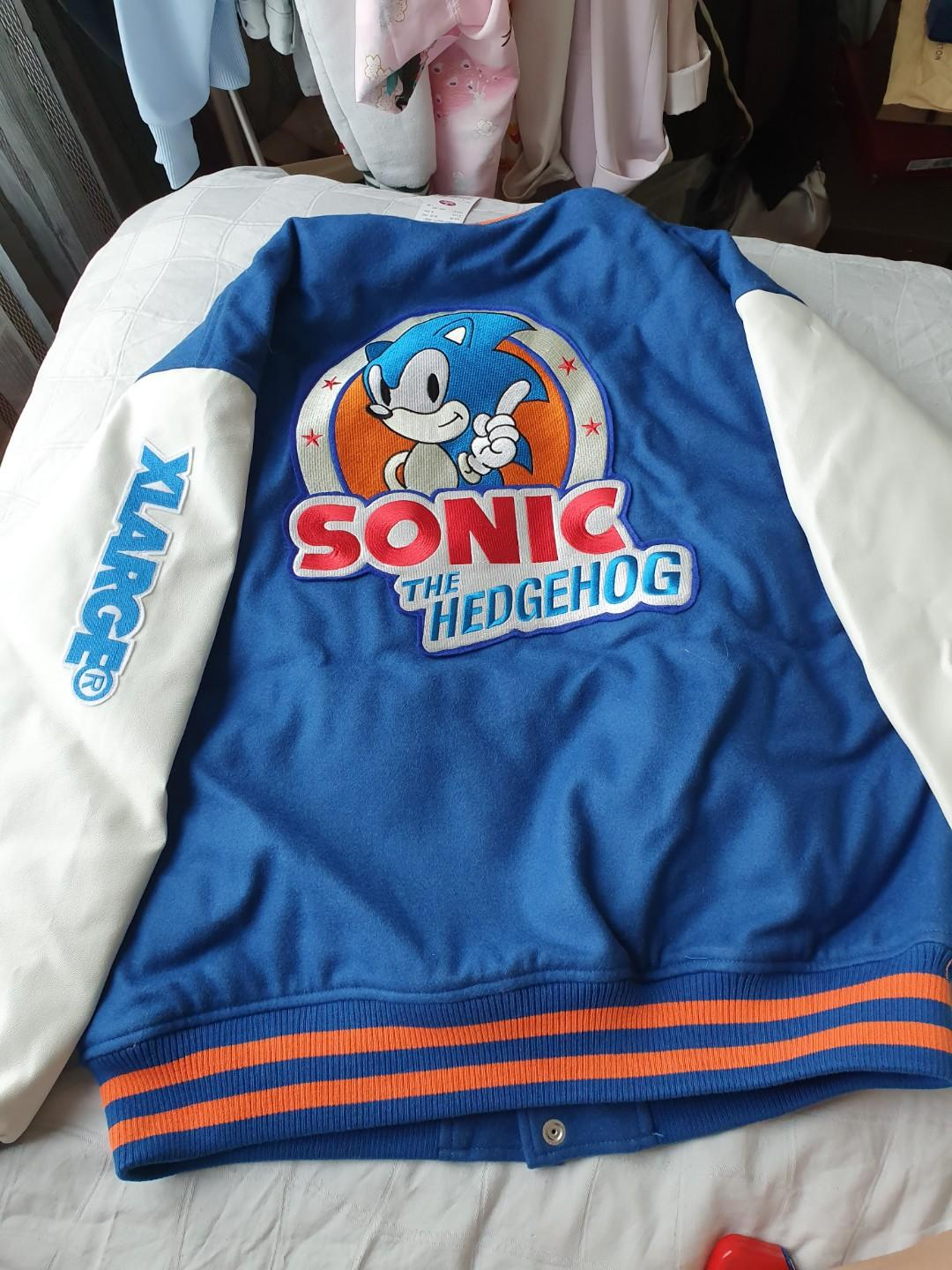 Xlarge X Sonic The Hedgehog Varsity Jacket Men S Fashion Clothes Tops On Carousell