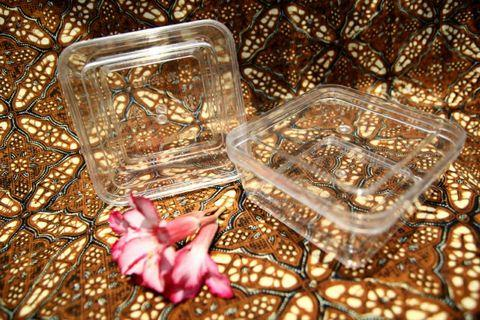 Selusin Kotak toples nastar plastik kue kering 200 gr 200gr