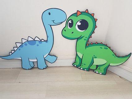 Handmade Big Dinosaurs for Party Decor