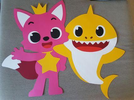 Handmade Baby Shark for Birthday Party Decoration
