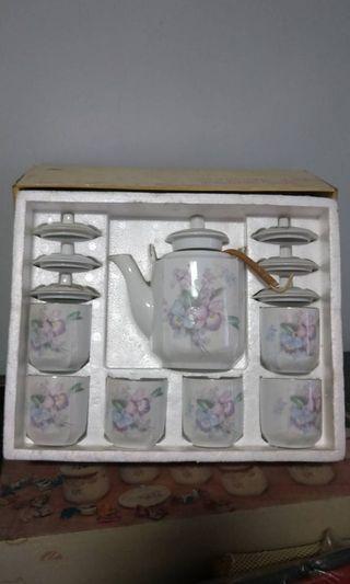 優雅白套餐茶具組 全新未使用