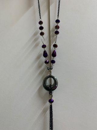 長項鍊#紫晶#