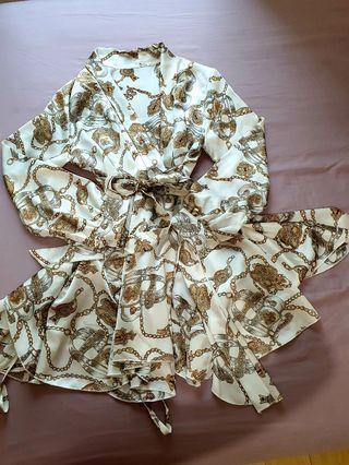 Silk Wrap Around Dress