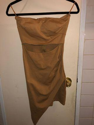 Strapless Tight Fitted Dress    Size S
