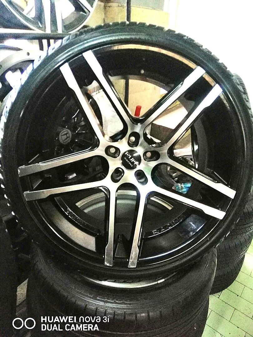 22 Inch Ruff Racing Mag Wheels 5x120pcd For Bmw 265 35 295 30 22 Accelera Tires Package Car Parts Accessories Mags And Tires On Carousell