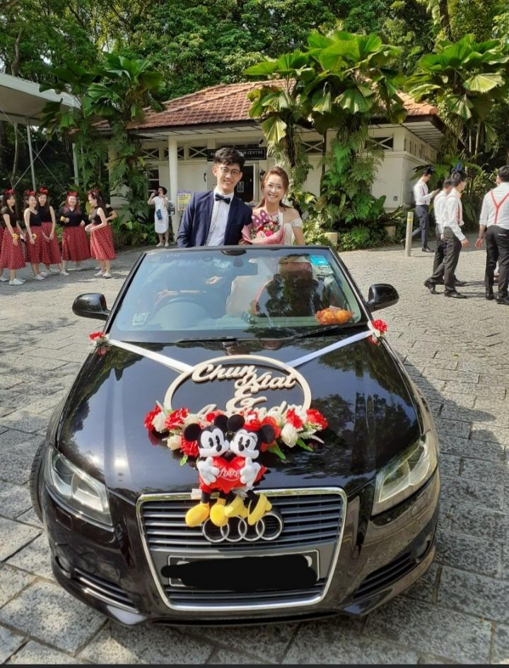 AUDI CABRIOLET FOR WEDDING AND ANY OTHER OCCASSION-$388 INCLUDING WEDDING DECORATION AND DRIVER NETT- SPECIAL JANUARY/FEBRUARY WEDDING PROMO-$100 Discount INCLUDED.