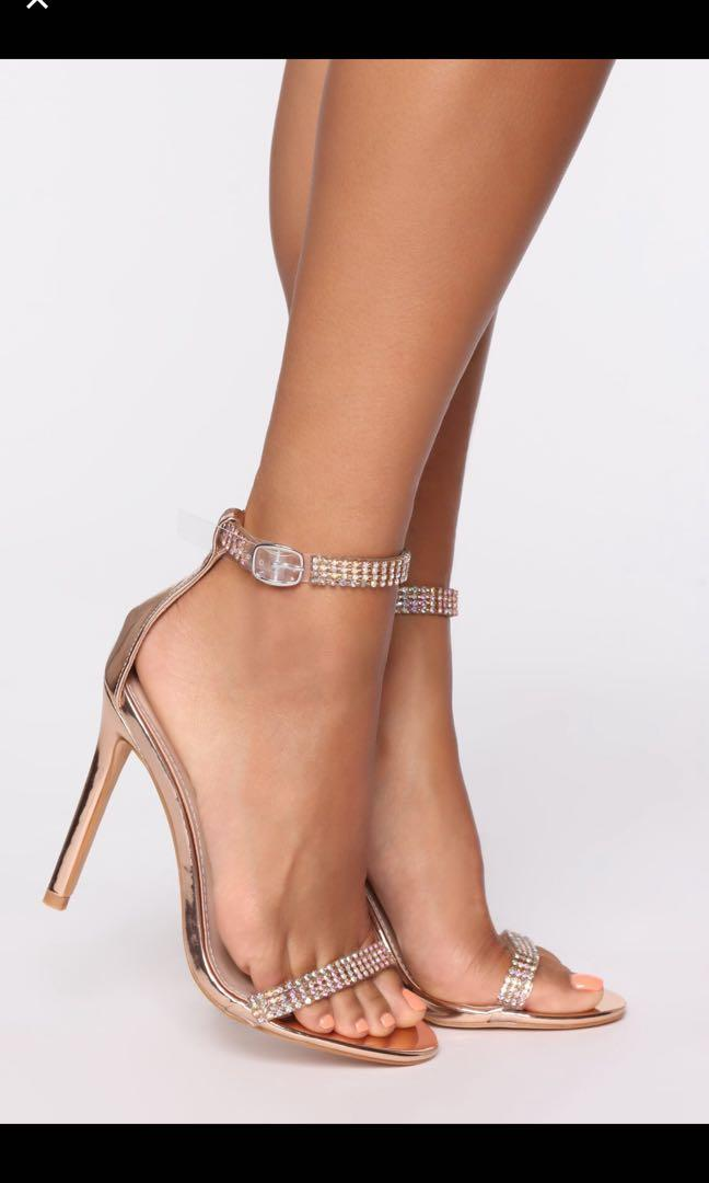 Fashion nova About last night heeled sandals - rose gold