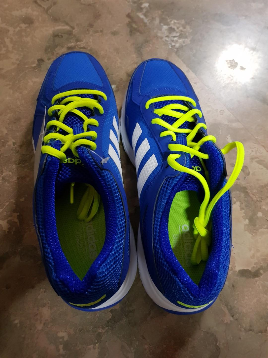 adidas blue and lime green shoes