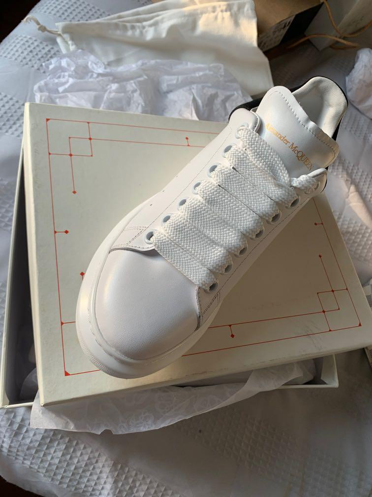 Alexander McQueen black and white sneakers (NEW) Size 38
