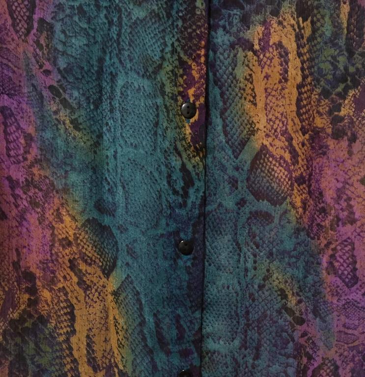 Boohoo Multicolour Snakeskin Print Shirt - Size 10