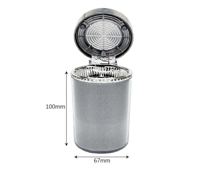 Car Ashtray with LED Light Cigarette Ash Tray Container
